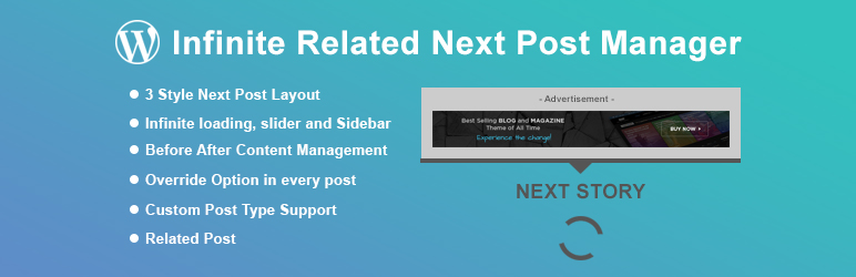 Infinite Related Next Post Manager for WordPress