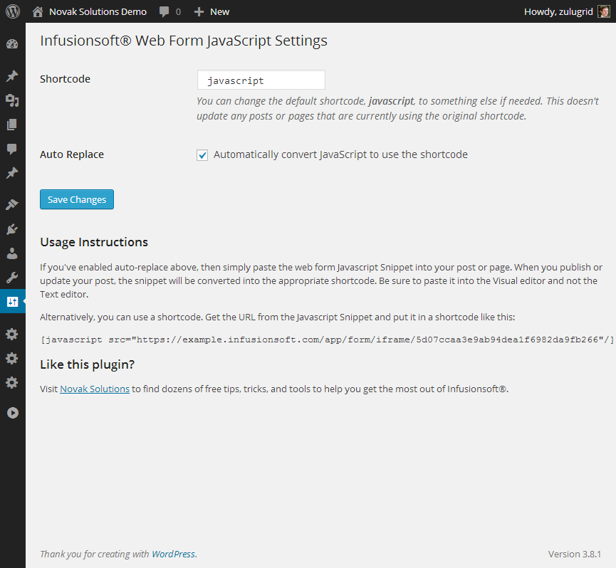 infusionsoft-web-form-javascript screenshot 1
