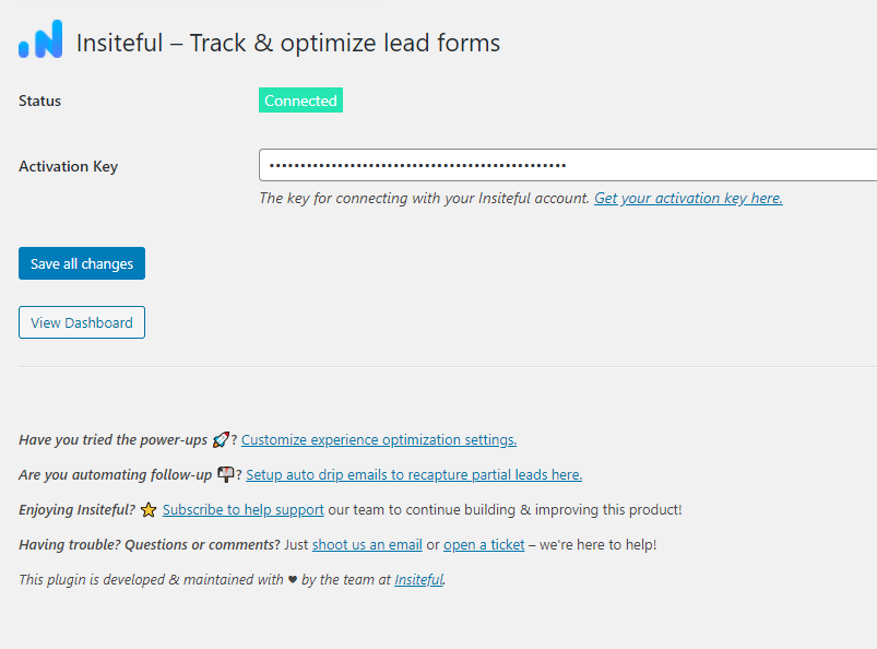 Insiteful for WordPress (Screenshot)