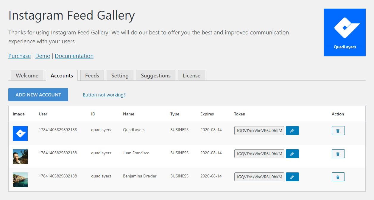 WP Social Feed Gallery – WordPress plugin | WordPress org