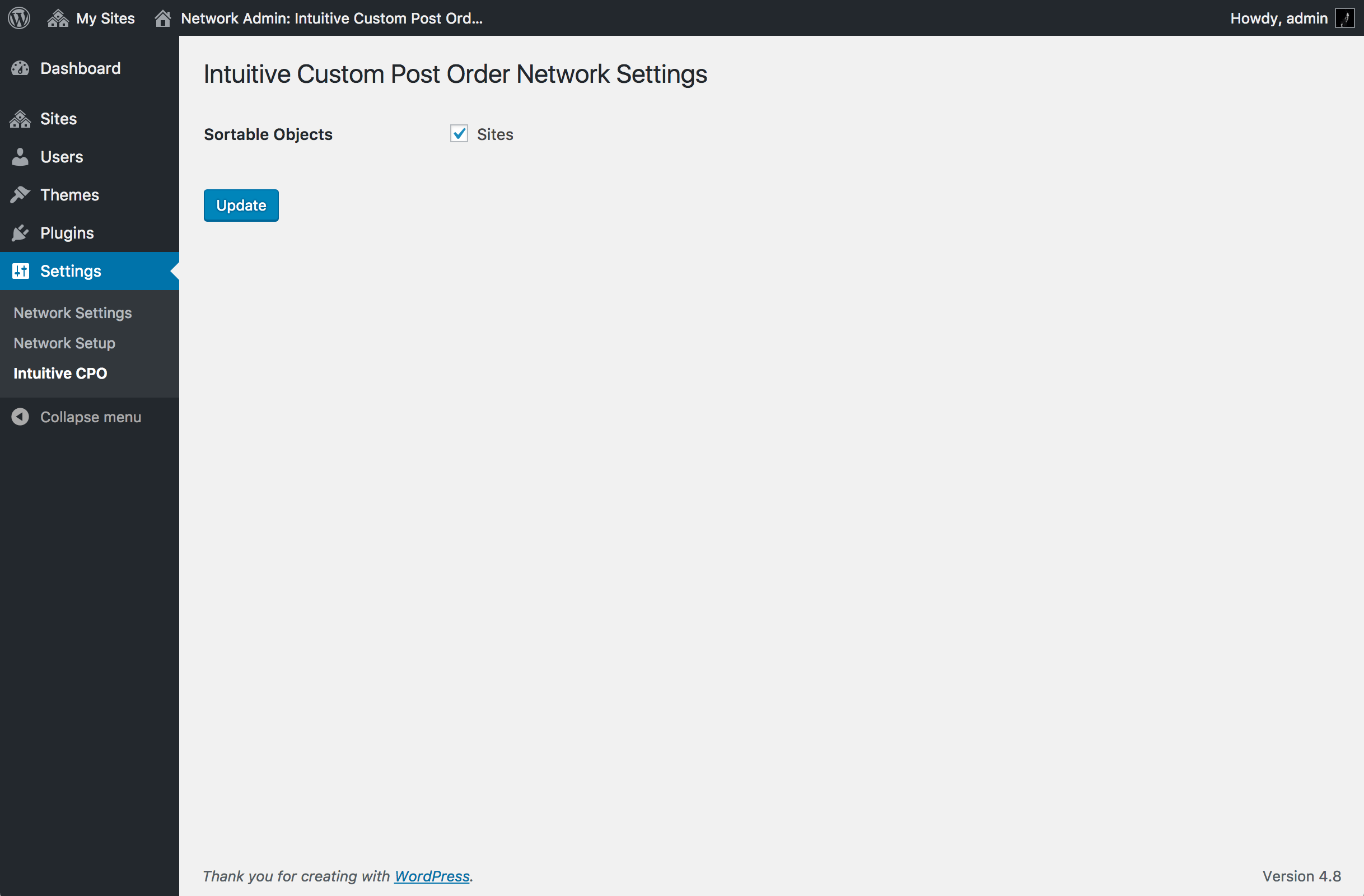 ( for Multisite ) Network Settings