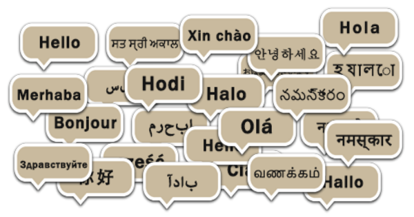 Example of translated Hello native languages