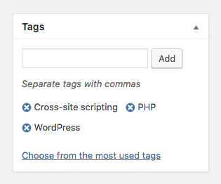 Seamlessly integrated with native Wordpress taxonomies