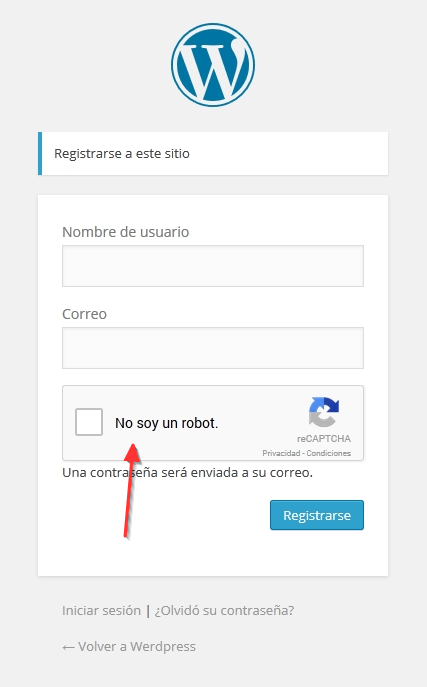 Result register jc Recaptcha