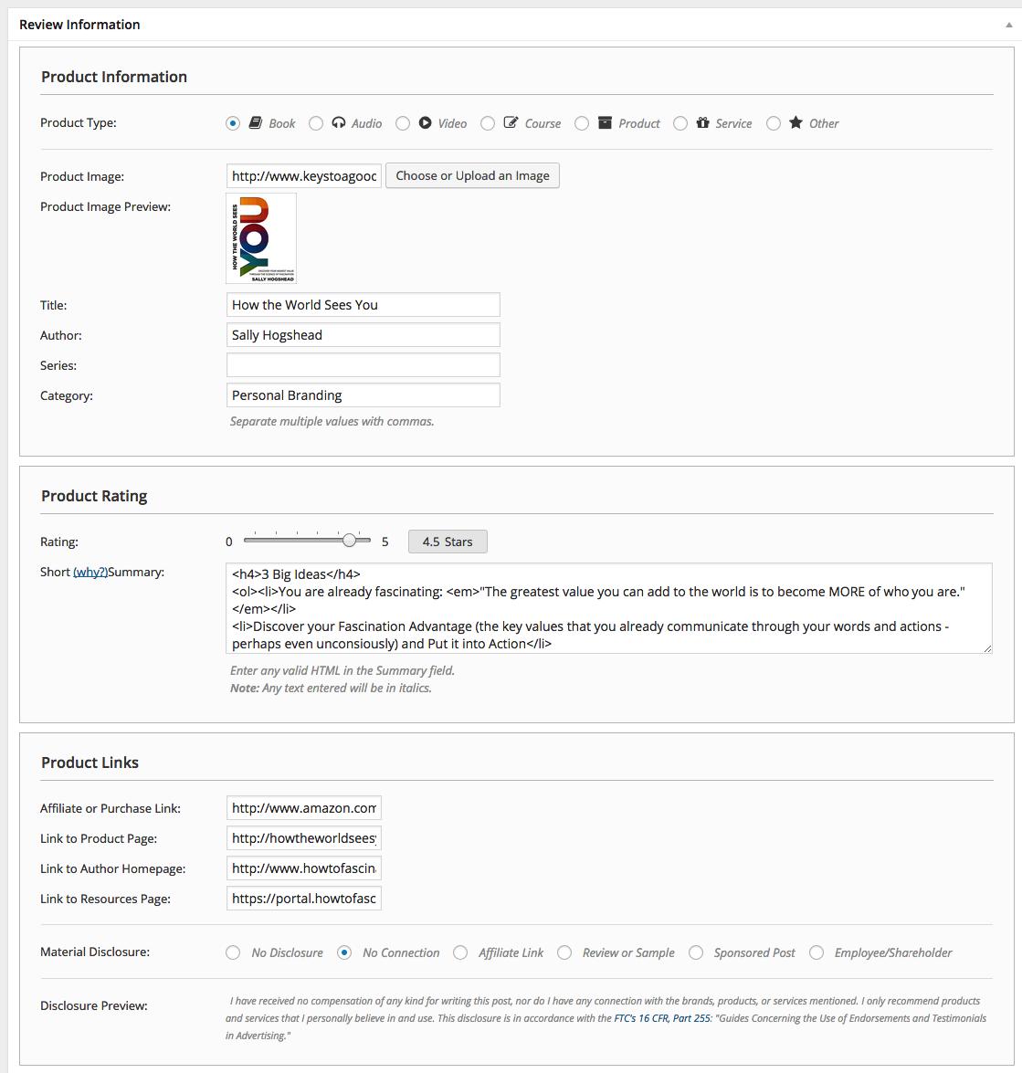 Custom Meta Box on the Post Editor page