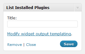 You may specify an optional widget title.