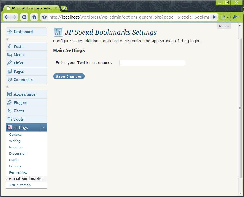 Admin settings 1