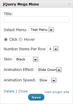 Widget in edit mode