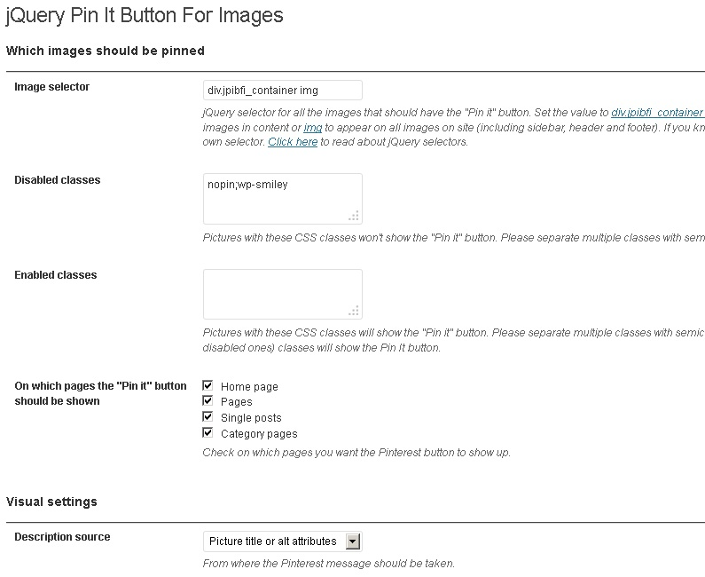 jQuery Pin It Button for Images – WordPress plugin