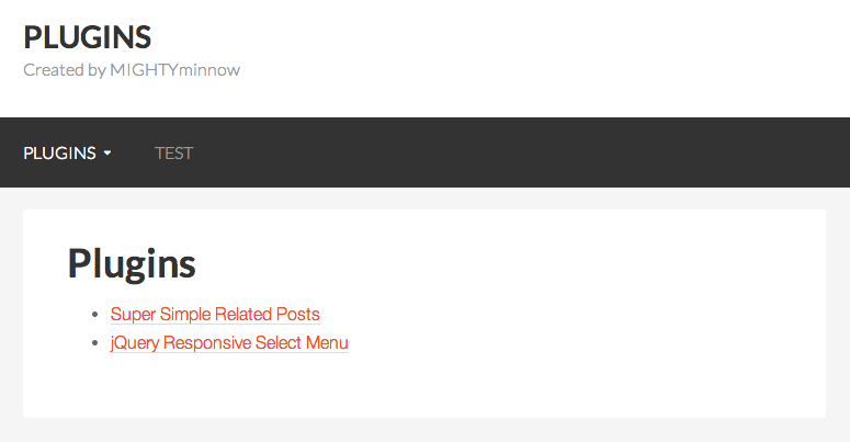 Normal WordPress navigation.