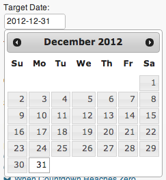 The magical jQuery Datepicker.