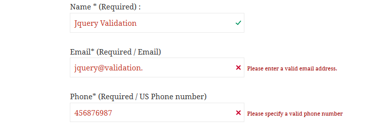 Jquery Validation For Contact Form 7 WordPress Plugins