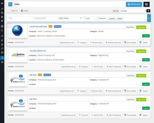 JS Job Manager — WordPress Plugins