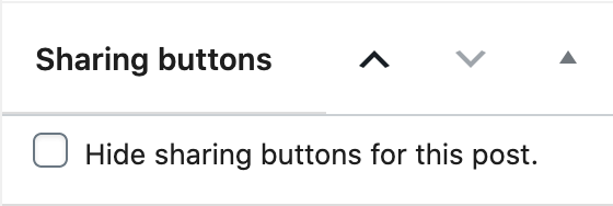 The metabox to hide buttons on a post