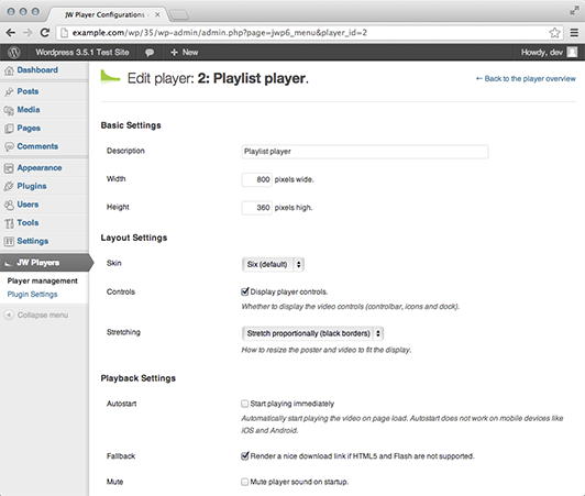 jw-player-plugin-for-wordpress screenshot 3