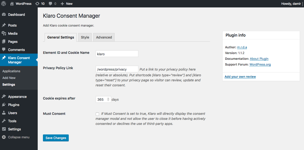 screenshot-1.png shows general administration settings.
