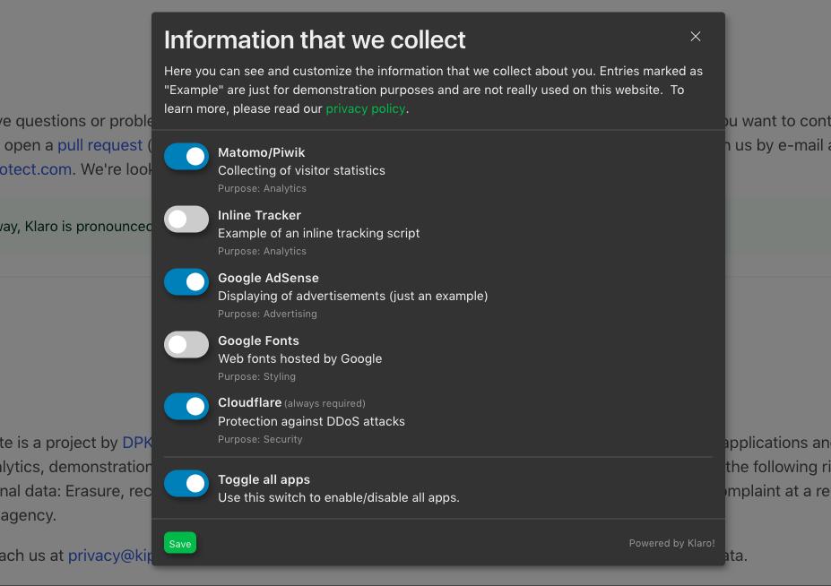 screenshot-6.png shows application in public mode.