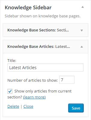Articles Widget