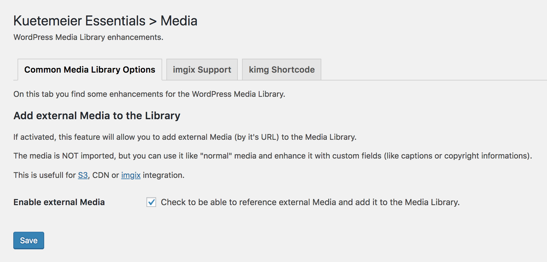 Use referenced external Media like normal ones in your Media Library