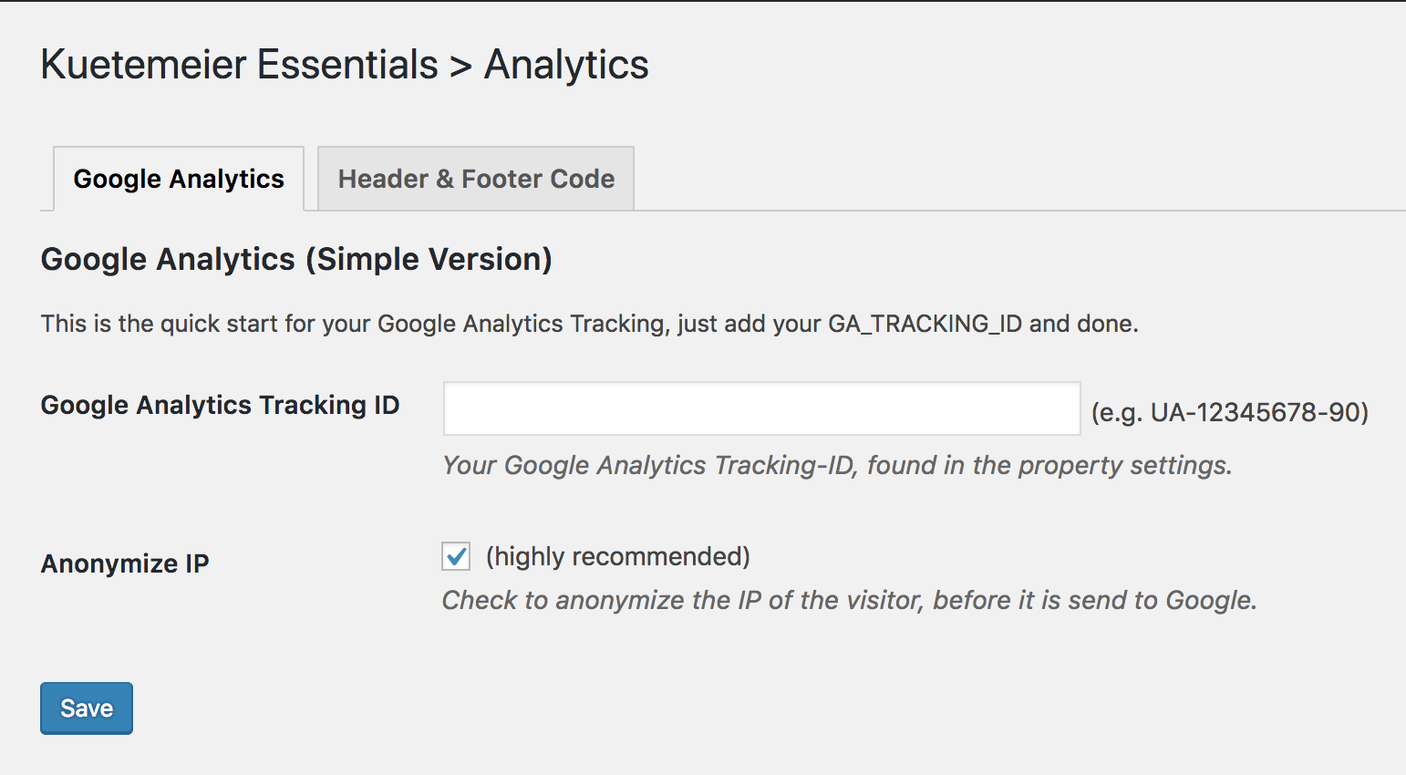 Simply include Google Analytics code with IP anonymization