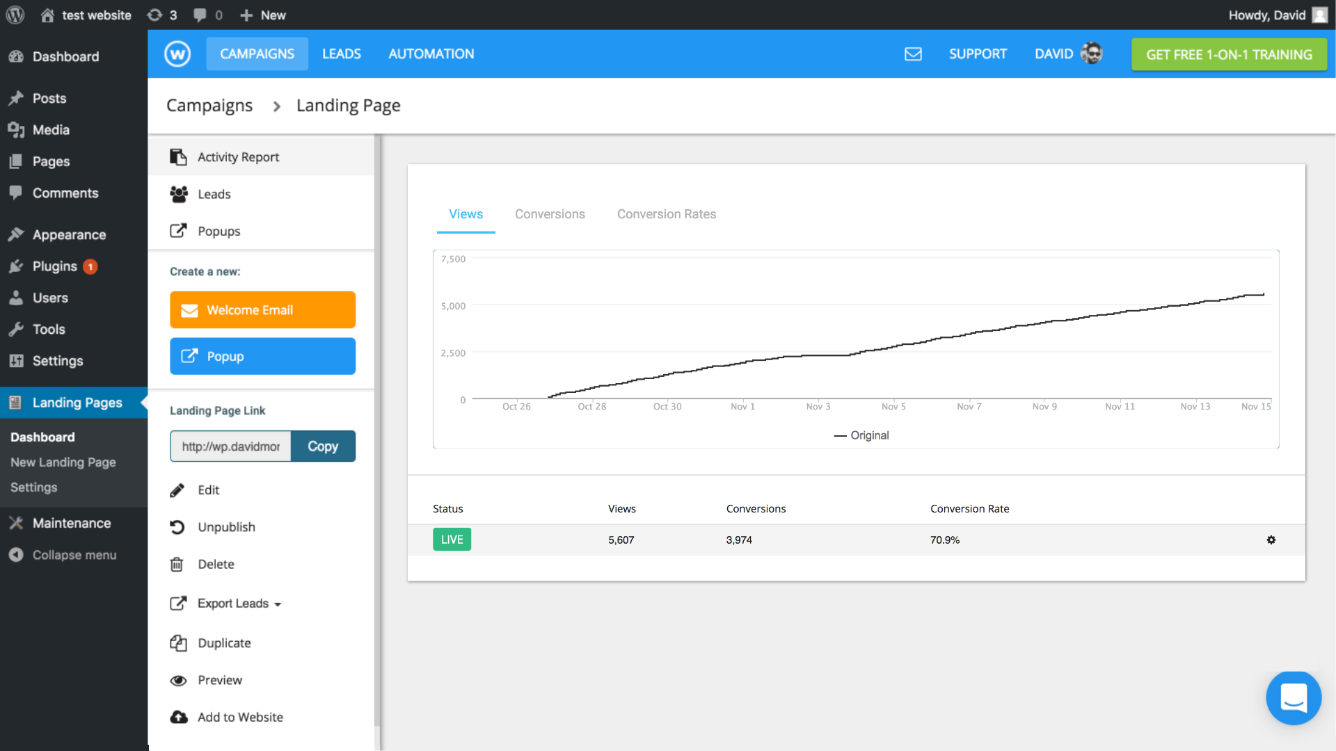 Free Landing Pages Builder by Wishpond — WordPress Plugins