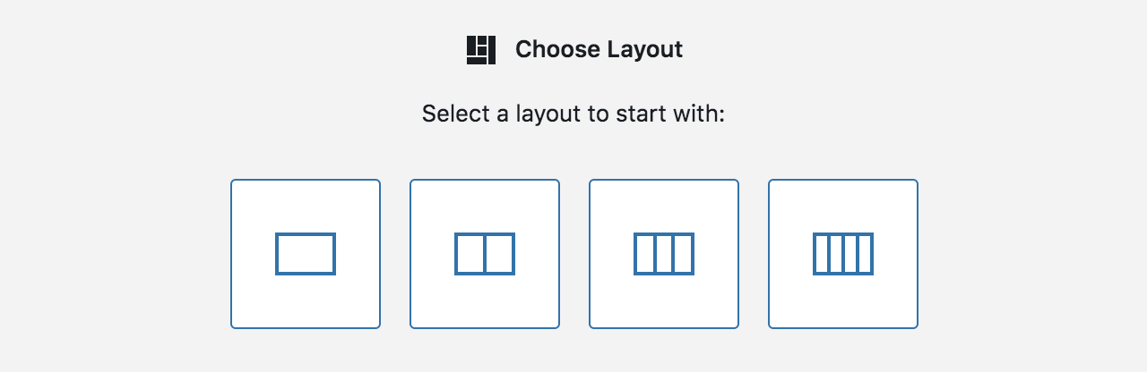 Grid layout selector.