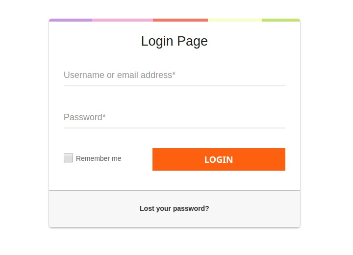 It is the default login page for the already registered users. Users need to write registered username or email and password to sign in. There is also an option to remember the user for future access.