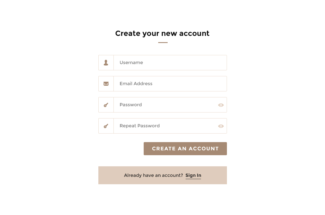 You can create a custom design of the form like this applying your CSS style.