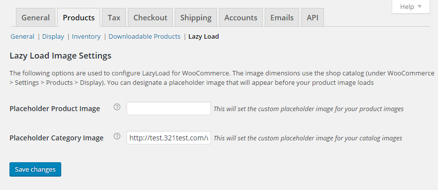 Setting up the placeholder for the category and product images that will be used for Lazy Load (it will match the shop catalog image dimensions).