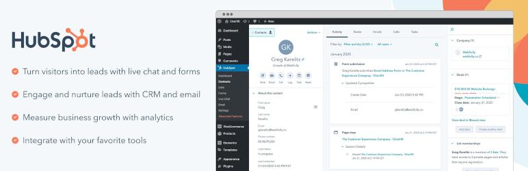 HubSpot – Free Marketing Plugin for WordPress