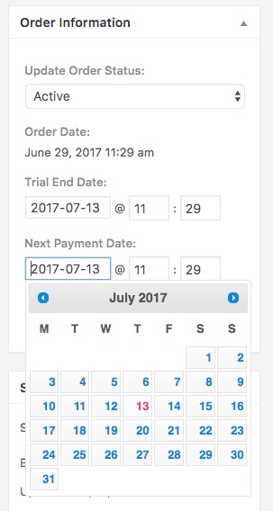 LifterLMS Update Upcoming Order Details