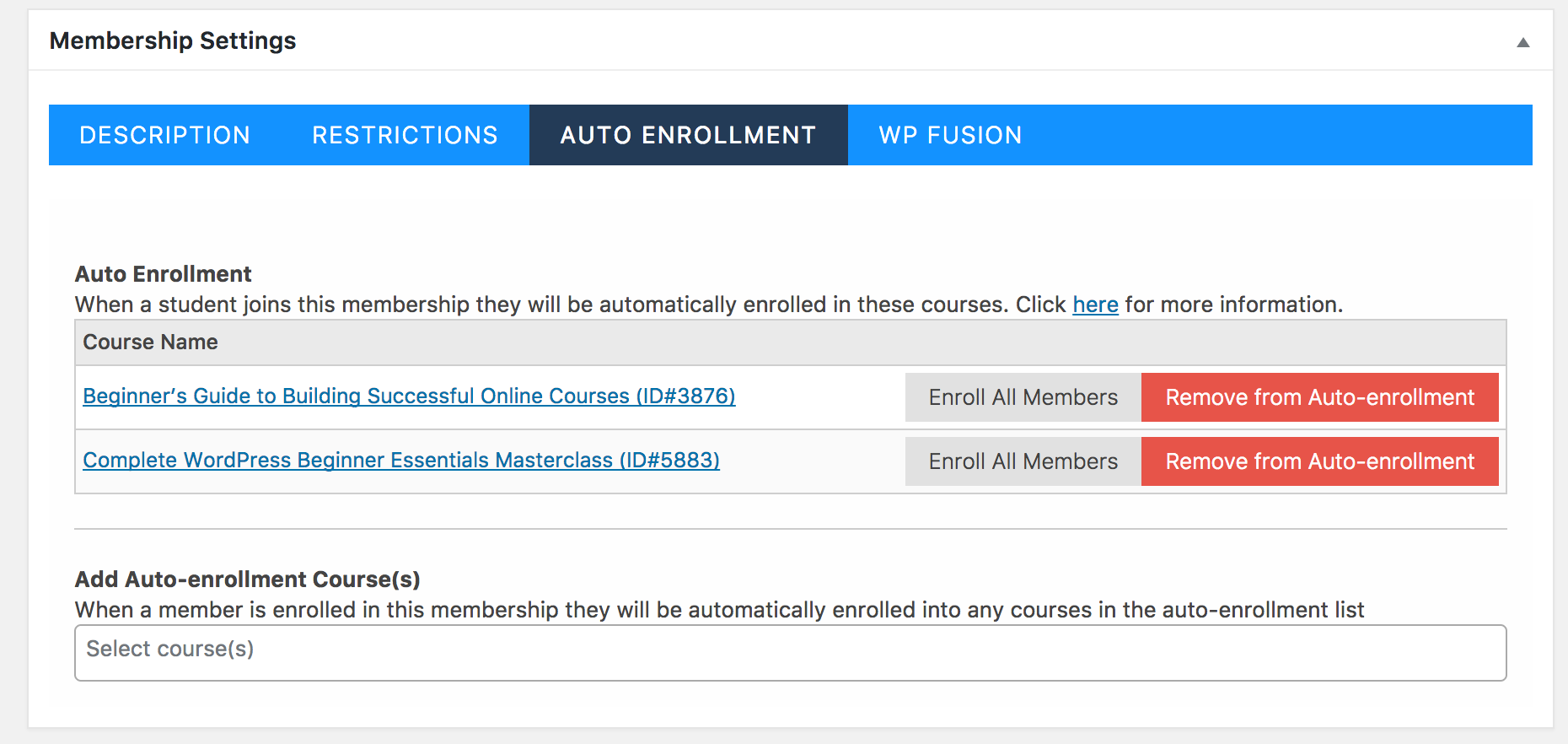 LifterLMS Membership Course Bundles and Auto Enrollment