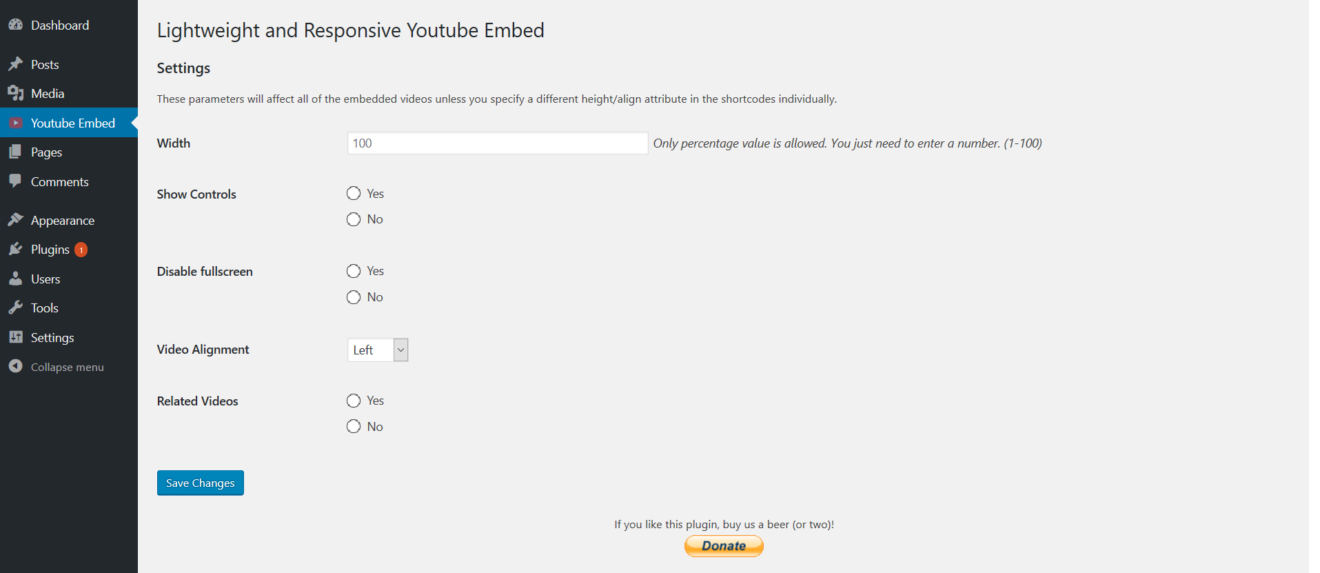 Lightweight and Responsive Youtube Embed
