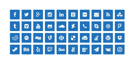 lightweight social icons wordpress org