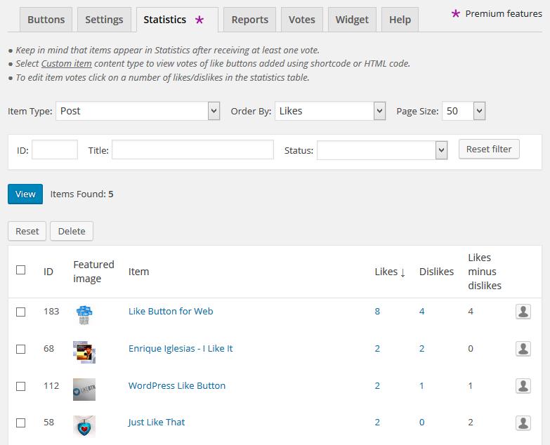 Like Button Rating ♥ LikeBtn – WordPress plugin | WordPress org