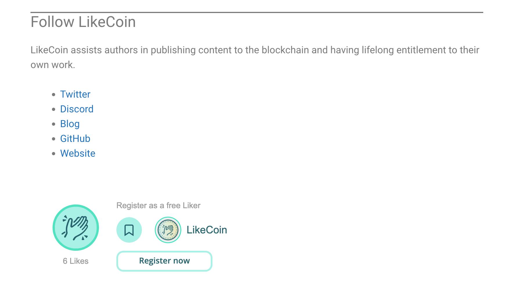 LikeCoin Widget Metabox