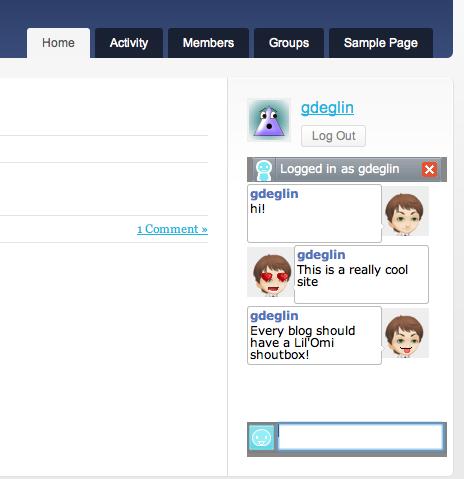 Lil'Omi Shoutbox - WordPress.orgLil'Omi Shoutbox - 웹