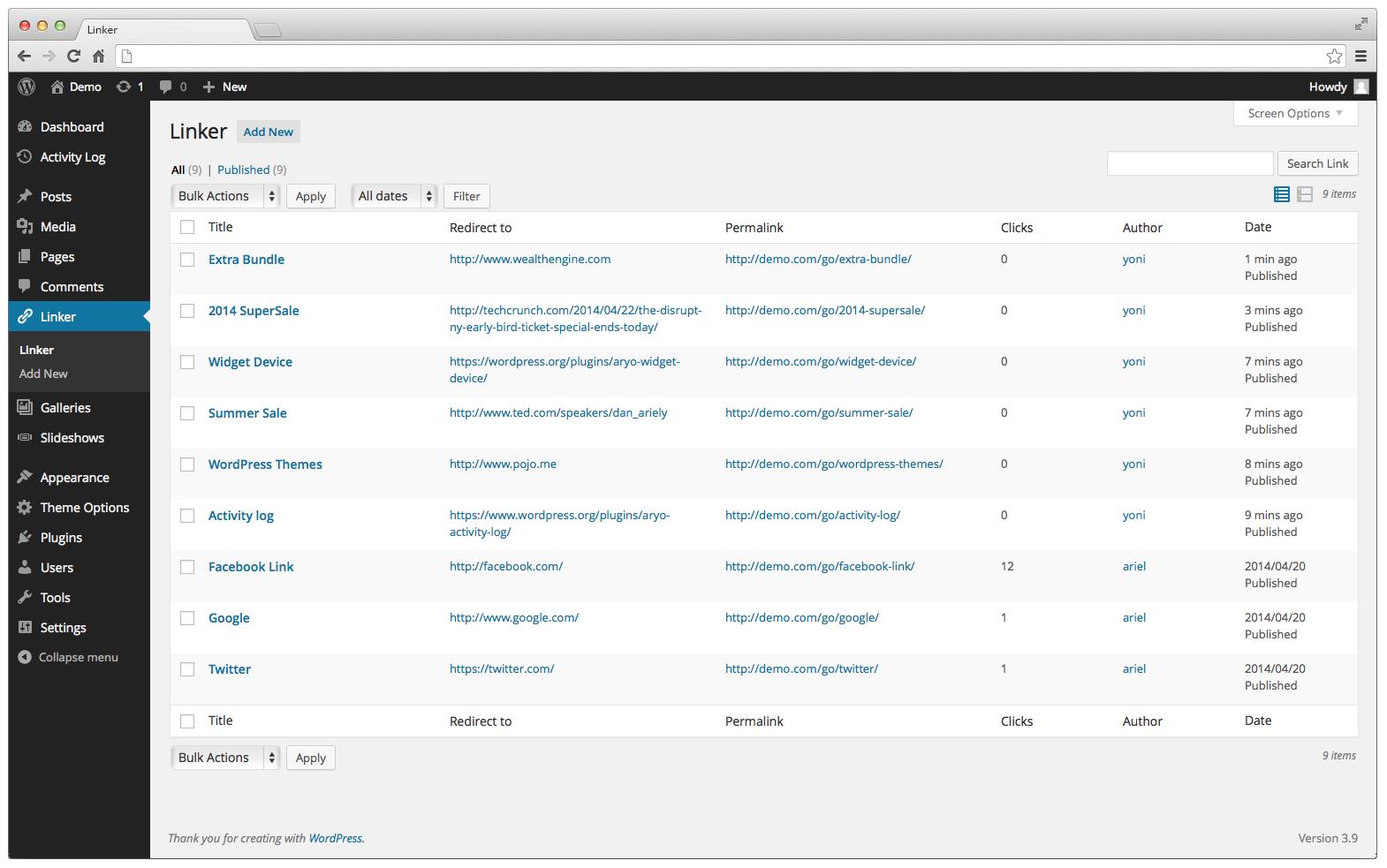リンクがクリックされた回数を計測できるプラグイン「Linker」の画像|Knowledge Base