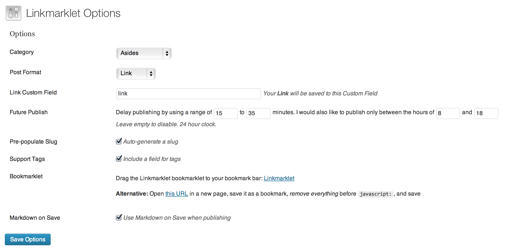 linkmarklet screenshot 2