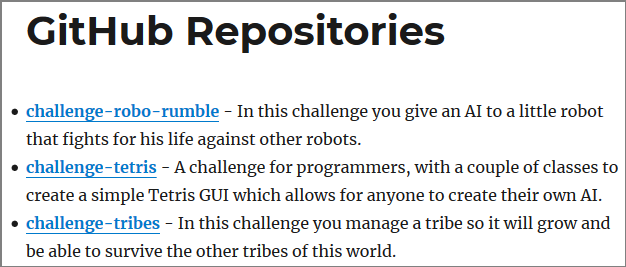 List GitHub Repositories in Action