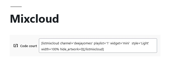 Add last podcast with ShortCode