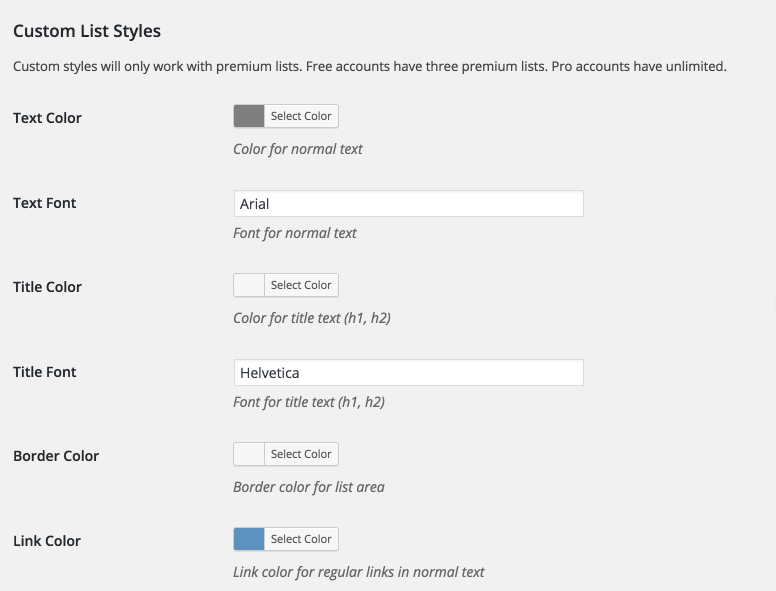 Customize colors and styles in Your Embed