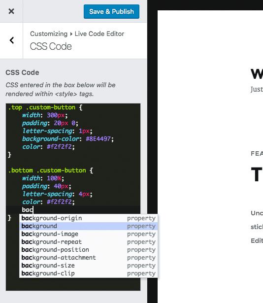 Live Custom CSS JS Code Editor