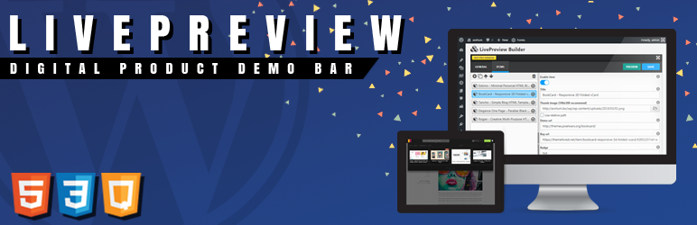 LivePreview Digital Product Demo Bar for WordPress