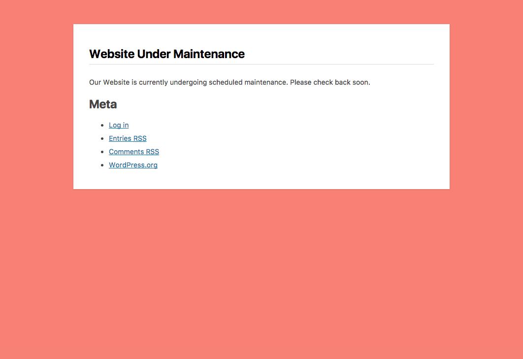 Example using widgets (meta)