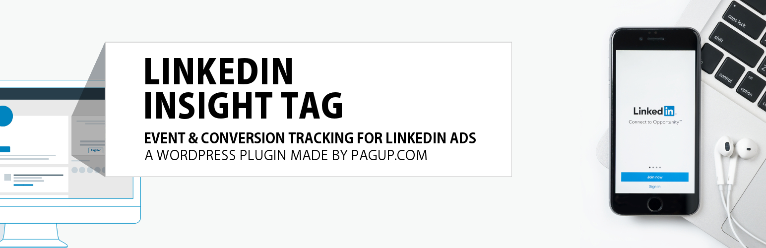 Lktags – Linkedin insight tags for Linkedin ads (advertising) + Event conversion tracking + Woocommerce