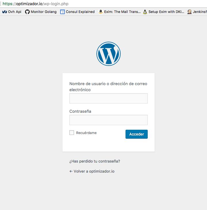 El plugin intercepta el login standard de WordPress