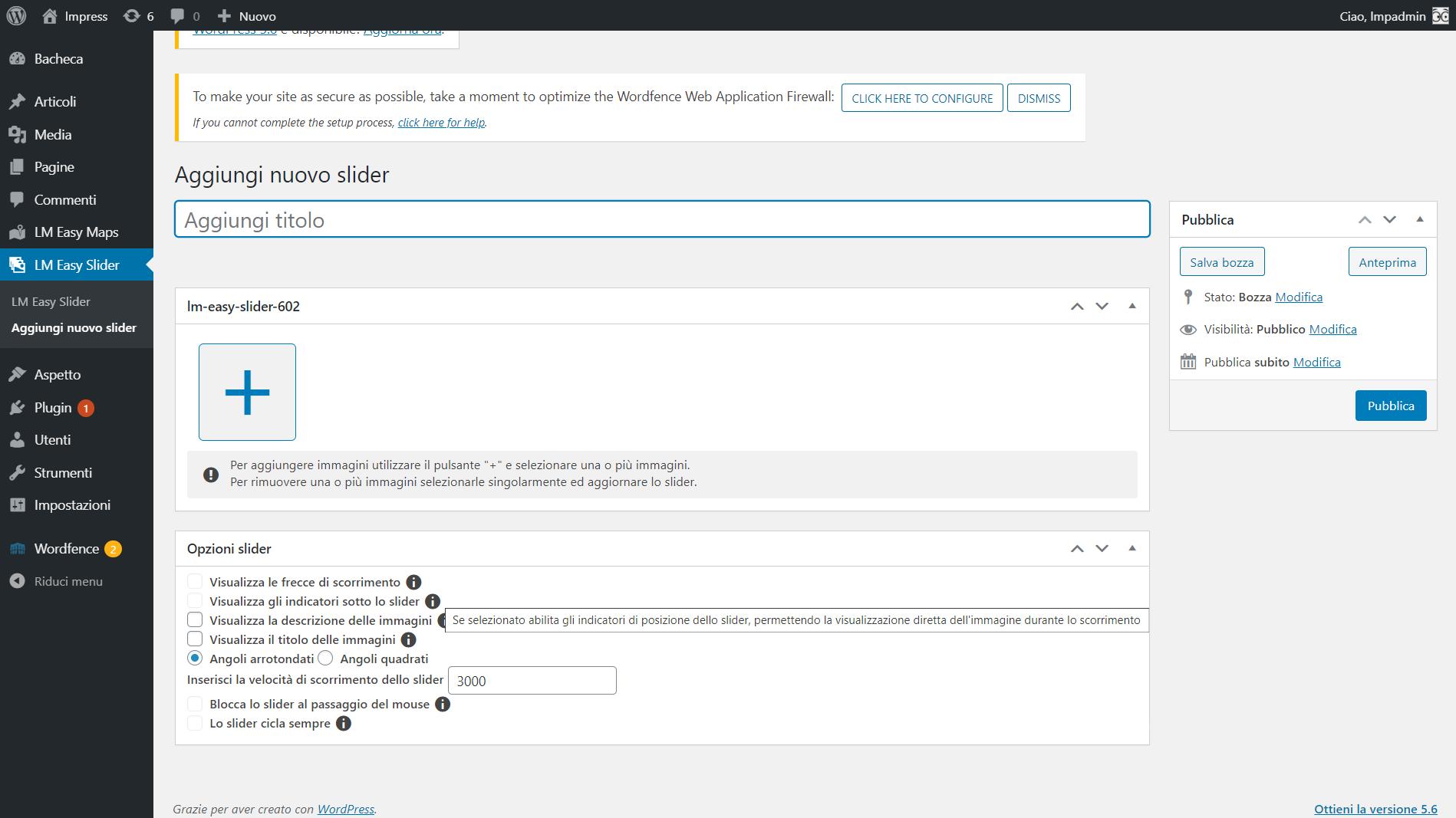 Info aggiuntive su opzioni Slider / Additional info on Slider options