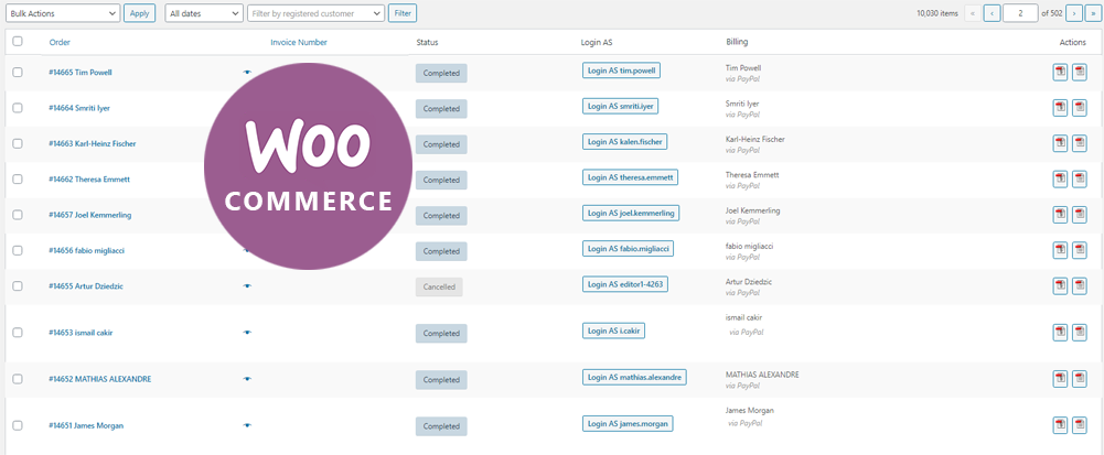 WooCommerce Page