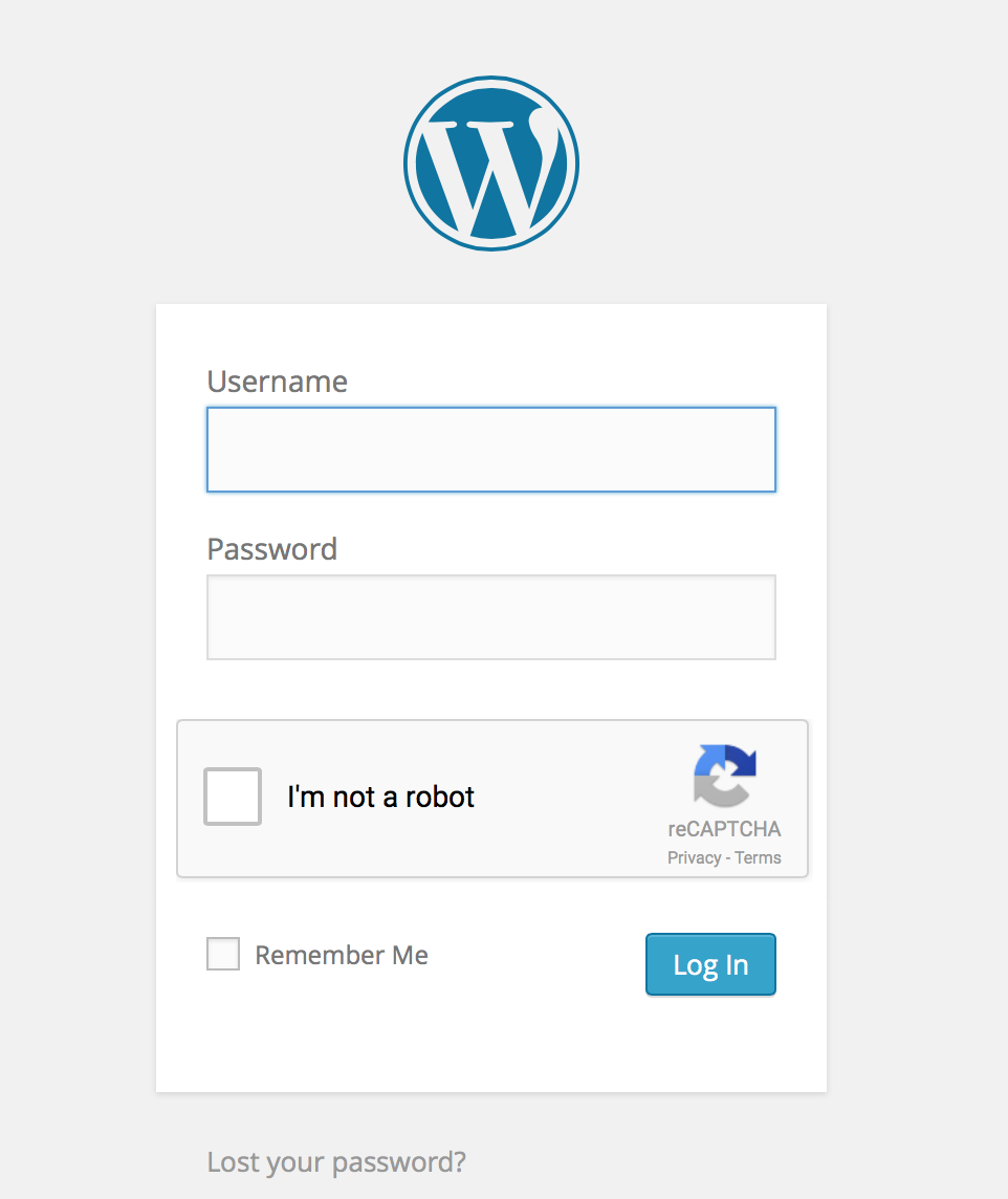 login captcha WordPress